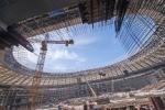 """На стадионе """"Лужники"""" началось остекление скай-боксов"""