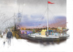 Бюро NBBJ представило концепцию ледовых катков-«цветов» на Темзе