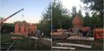 В Головинском парке вопреки протестам местных жителей начали строить храм