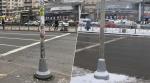 Петербургские чиновники очистили столб от рекламы с помощью Paint