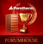 Керамический блок Porotherm 44 – лучший материал по результатам голосования проекта «Премия FORUMHOUSE»