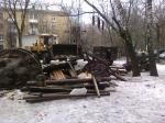 Власти снесли в Кунцеве самодельную детскую площадку против воли местных жителей