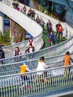 В Китае появилась самая длинная в мире «воздушная трасса» для велосипедов