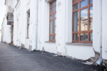 При укладке асфальта на Венцека повредили «Дом с атлантами»