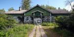 В Усть-Ижоре сгорело деревянное здание вокзала станции Ижоры