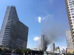 Репортаж из соцсетей: Пожар в «доме-книжке» на Арбате