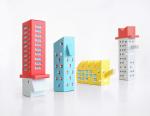 Картонные модели для сборки, созданные по мотивам русского архитектурного авангарда