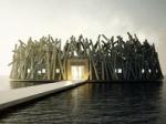 В Швеции открывается арктический плавающий отель, напоминающий гнездо