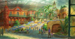 Студия Ghibli показала, как будет выглядеть ее парк развлечений. В нем будет ходячий замок!