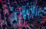 Инстаграм недели: неоновый Нью-Йорк с высоты птичьего полета