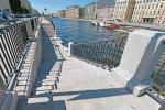 В Петербурге завершен ремонт набережной Фонтанки