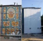 В Ташкенте восстановлено мозаичное панно на торце жилого дома