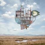 Проект «Картография неба»: парящие сказочные дома от немецкого художника