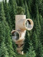 Альтернатива бетонным «копиям копий»: концепция дома на дереве от студии Precht