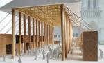 Сигэру Бан предложил построить на время реставрации рядом с Нотр-Дам в Париже павильон из контейнеров и картонных труб