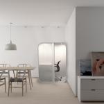 Бразильская мастерская Atelier Marko Brajovic представила компактный офис для дома. Он займет меньше полутора квадратных метров