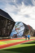 Гараж готовится к прыжку: «олимпийская» крытая парковка в штаб-квартире Nike в Орегоне