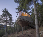 На берегу норвежского фьорда построили гостиницу-на-дереве