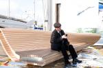 """5 октября в рижском яхт-клубе """"Andrejosta"""" состоится открытие портовой скамеечки по проекту архитектора Тотана Кузембаева"""