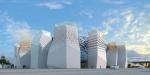 """Башенный крен. Российский павильон на """"Экспо-2010"""": 12 башен в виде березок"""