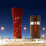 Башни Porta Fira в Барселоне