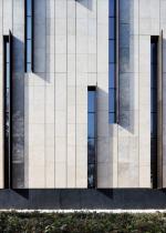 Травертиновый фасад