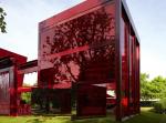 Красный и зеленое: павильон Жана Нувеля для Serpentine Gallery