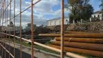 Стройограды демонтируют на Пушкинской и Боровицкой площадях в Москве