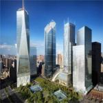 Тройка небоскребов на месте «башен-близнецов»