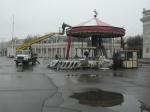 В Парке Горького начали сносить кафе