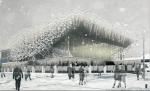 Зимнее утро «Пушкинского». Конкурс на лучший облик главного кинотеатра Москвы выиграл колумбиец