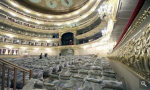 Проверка звука от Доминго. Зал обновленного Большого театра вмещает меньше зрителей, но больше музыкантов, а главное звука