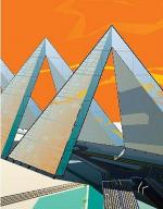 Утопия. Стенли Тайгерман. Город над автострадой,1960-е годы