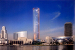 Козицын поставит в Екатеринбурге очередной памятник «фужерной» архитектуры - стакан высотой в 209 метров, декорированный медью.
