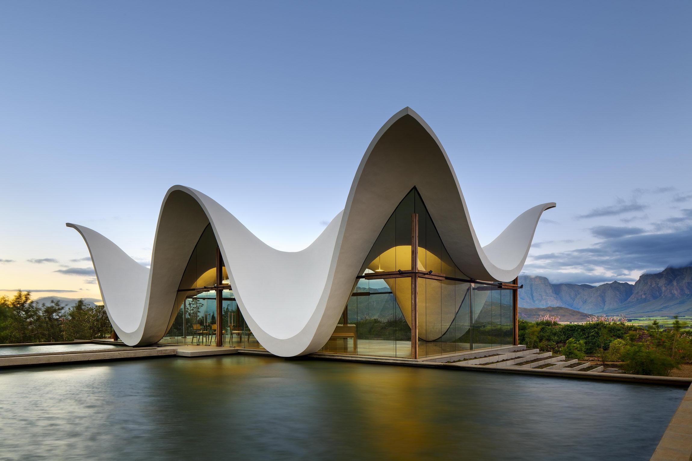 красивый фотография интересного здания или архитектуры есть такая форма