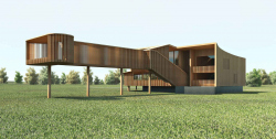 Project of the standard house of the President Polo Club