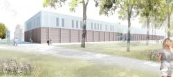 Новый корпус культурного центра Lokhalle