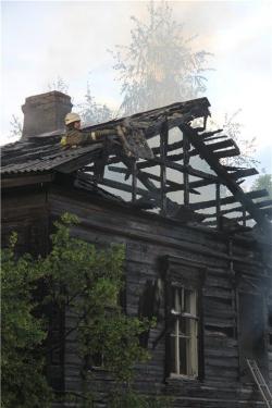 В Пскове сгорел еще один памятник регионального значения