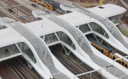 Перекрытия платформ на Центральном вокзале Арнема