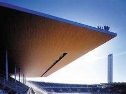 Новое перекрытие Олимпийского стадиона в Хельсинки. 2001-2004. Фото с сайта www.k2s.fi