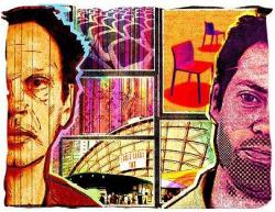 Коллаж: Александр Котляров. Слева направо: Том Диксон; инсталляция наТрафальгарской площади; обои для Cole & Son Выставочный комплекс Эрлc Корт Джаспер Моррисон