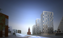 Architectural and town-planning concept of building new houses and renovating the residential block between the Lenin Street and the Soldatskoe Lake in the central part of Ufa