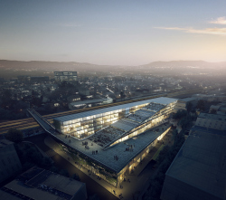 Корпус института SUPSI - конкурсный проект