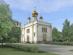 Reconstruction of Transfiguration Cathedral at the Aptekarsky Island in Saint Petersburg