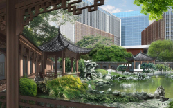 Проект китайского делового центра «Парк Хуамин» на улице Вильгельма Пика