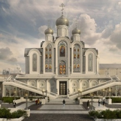 О строительстве нового храма на территории Сретенского монастыря в Москве