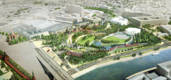"""Zaryadye"" Park. Contest project by the consortium of Reserve Group + Maxwan + Latz und Partner"