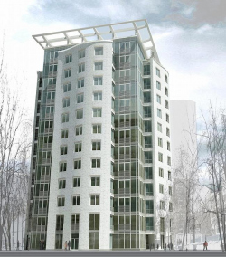 Residential building with the underground car-parking in Jaroslavsky pereulok, 11/13, stroenie 1