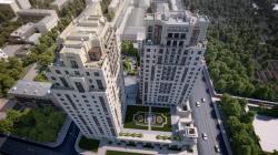 Barkli Residence. Вид сверху. Компьютерная визуализация. @ ART3D for BARKLI and Robert A.M. Stern Architects