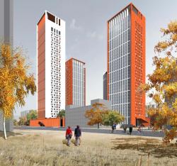 Концепция жилого комплекса на Рублевском шоссе (Сергей Скуратов ARCHITECTS)